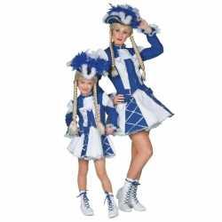 Blauw Dansmarieke kostuum meisjes