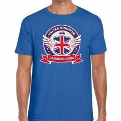 Blauw engeland drinking team t shirt heren