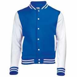 Blauw wit college jacket dames