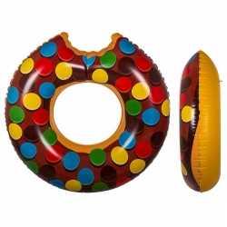 Bruine donut zwemband spikkels 119
