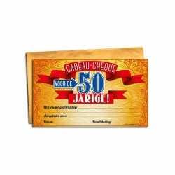Cadeau cheque 50 jaar 20 bij 34
