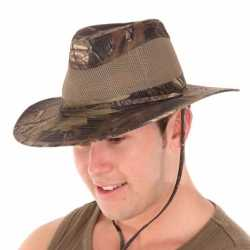 Camouflage fedora hoed heren