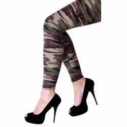 Camouflage print legging dames