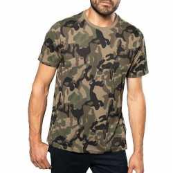 Camouflage t shirt korte mouwen heren herenkleding