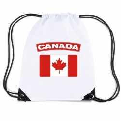 Canada nylon rugzak wit canadese vlag