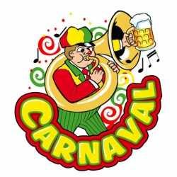 Carnaval decoratiebord muzikant 35 bij 40