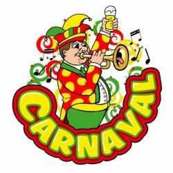 Carnaval decoratiebord muzikant trompet 35 bij 40