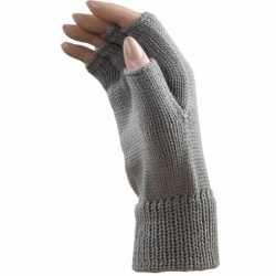 Carnaval vingerloze handschoenen licht grijs volwassenen