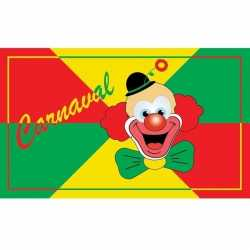 Carnavals vlag clown