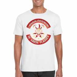 Carnavalsvereniging de harde plasser brabant heren t shirt wit
