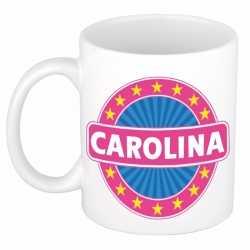 Carolina naam koffie mok / beker 300 ml