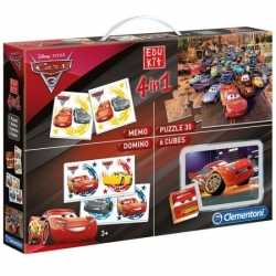 Cars puzzel speel box 4 in 1