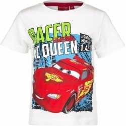 Cars t shirt wit jongens