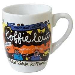 Cartoon mok koffieleut