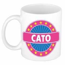 Cato naam koffie mok / beker 300 ml