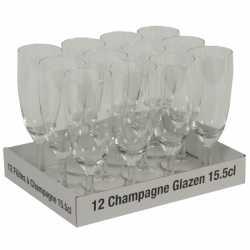 Champagne glazen 12 stuks