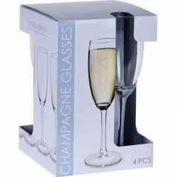 Champagne glazen set 180 ml 4 stuks