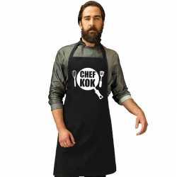 Chef kok keukenschort zwart heren dames