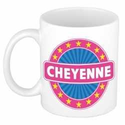 Cheyenne naam koffie mok / beker 300 ml