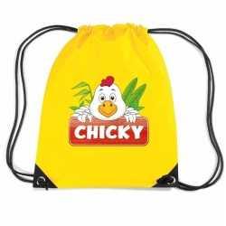 Chicky de kip rugtas / gymtas geel kinderen