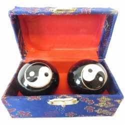Chinese meridiaankogels 3,5 yin yang in kistje