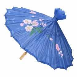 Chinese paraplu donkerblauw 50