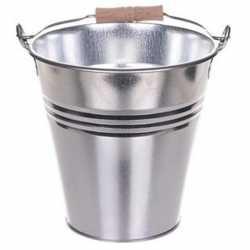Chroom metalen emmer 3 liter