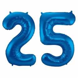 Cijfer 25 ballon blauw 86