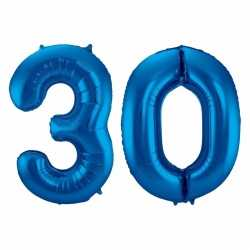 Cijfer 30 ballon blauw 86