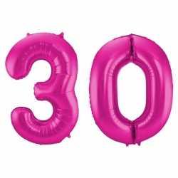 Cijfer 30 ballon roze 86