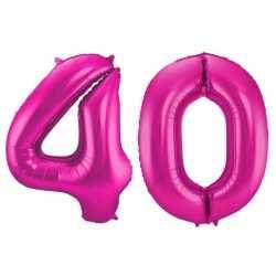 Cijfer 40 ballon roze 86