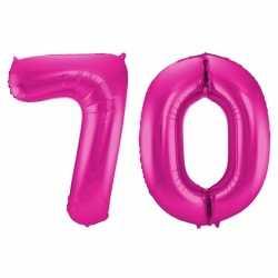 Cijfer 70 ballon roze 86