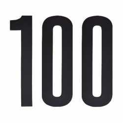 Cijfer sticker 100 zwart 10