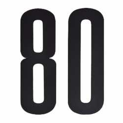 Cijfer sticker 80 zwart 10