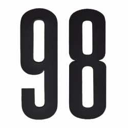 Cijfer sticker 98 zwart 10