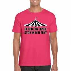 Circus t shirt roze lange stok heren