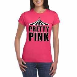 Circus t shirt roze pretty pink dames