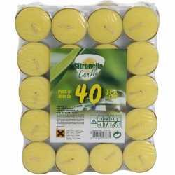 Citronella waxinelichtjes/theelichtjes 40 stuks