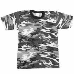 City camouflage t-shirt korte mouw