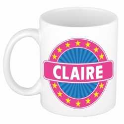 Claire naam koffie mok / beker 300 ml
