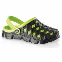 Clogs dames waterschoenen zwart/groen