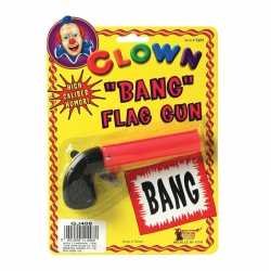 Clown pistool bang vlag 10