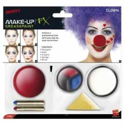 Clown schmink set inclusief clownsneus
