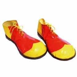Clown schoenen geel rood