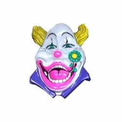 Clown wanddecoratie 60 wit