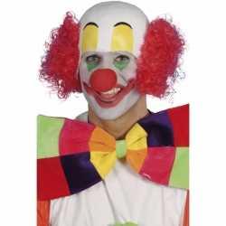 Clowns pruik van rubber