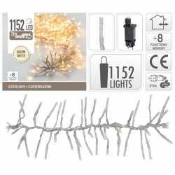 Clusterverlichting warm wit buiten 1152 lampjes