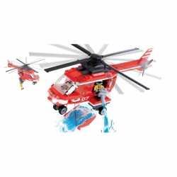 Cobi brandweerhelikopter bouwstenen set