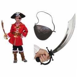 Compleet kapitein piratenpak kinderen