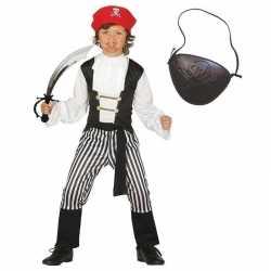 Compleet piraten kostuum maat 140 152 kinderen